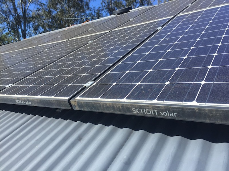 solar panels self cleaning